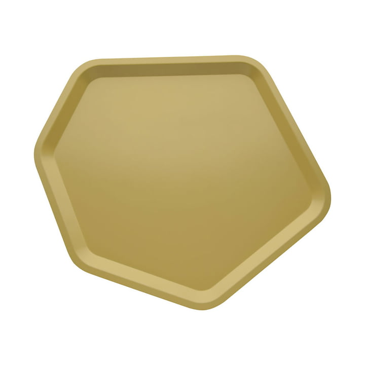Alessi - Territoire, tray hexagonal, epoxy resin lacquered