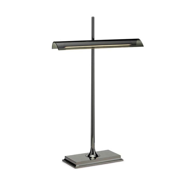Flos - Goldman Table Lamp, nickel base and smoke grey diffusor