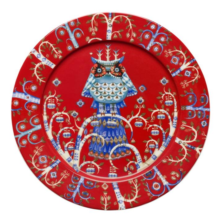 Iittala - Taika Plate flat, red Ø 27 cm