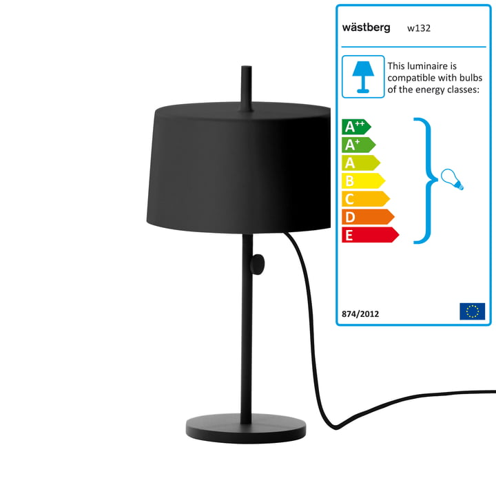 Wästberg - Nendo Table Lamp Cylinder w132t2, black