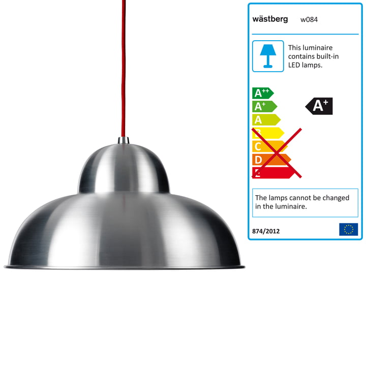 Wästberg - Studioilse Pendant Luminaire w084s, red cord