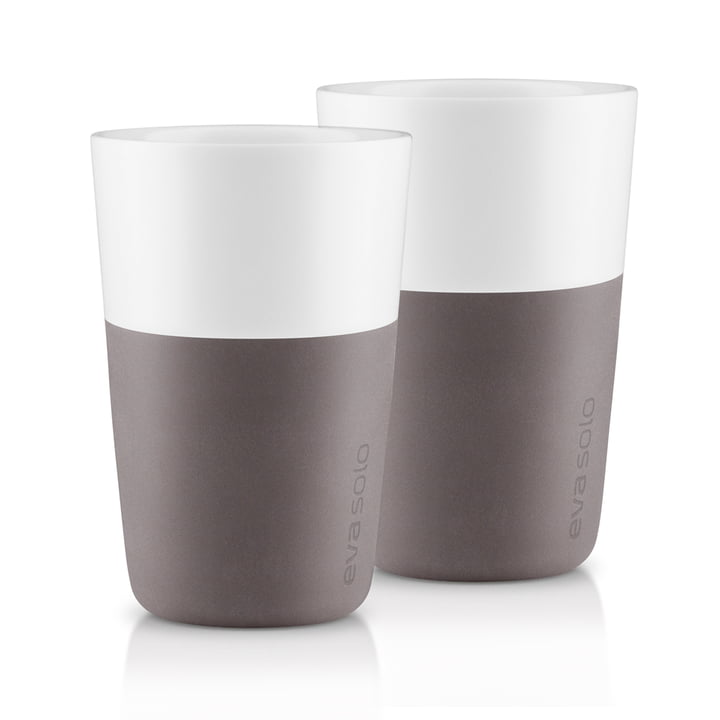 Caffé Latte cups (set of 2) by Eva Solo in gray