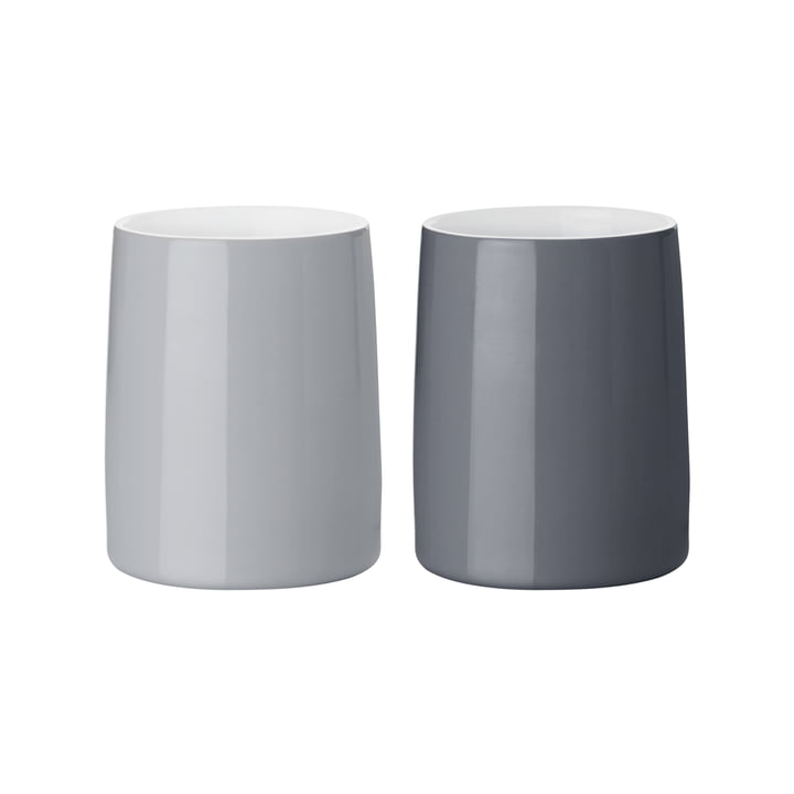 The Emma thermo mugs from Stelton , 0.25 l, grey (set of 2)