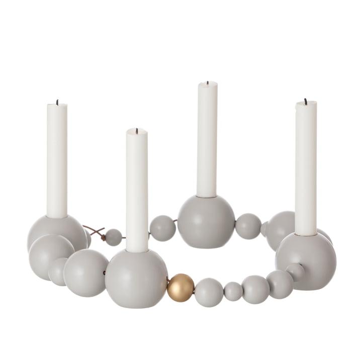 ferm Living - String Candleholder, grey