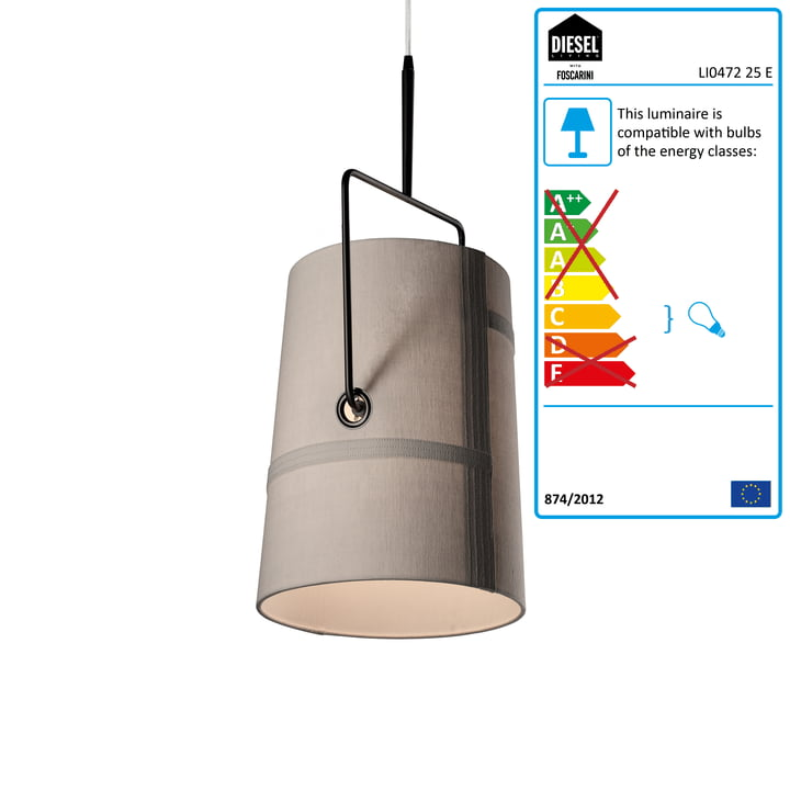 Diesel Living - Fork piccola Pendant Light, brown / grey