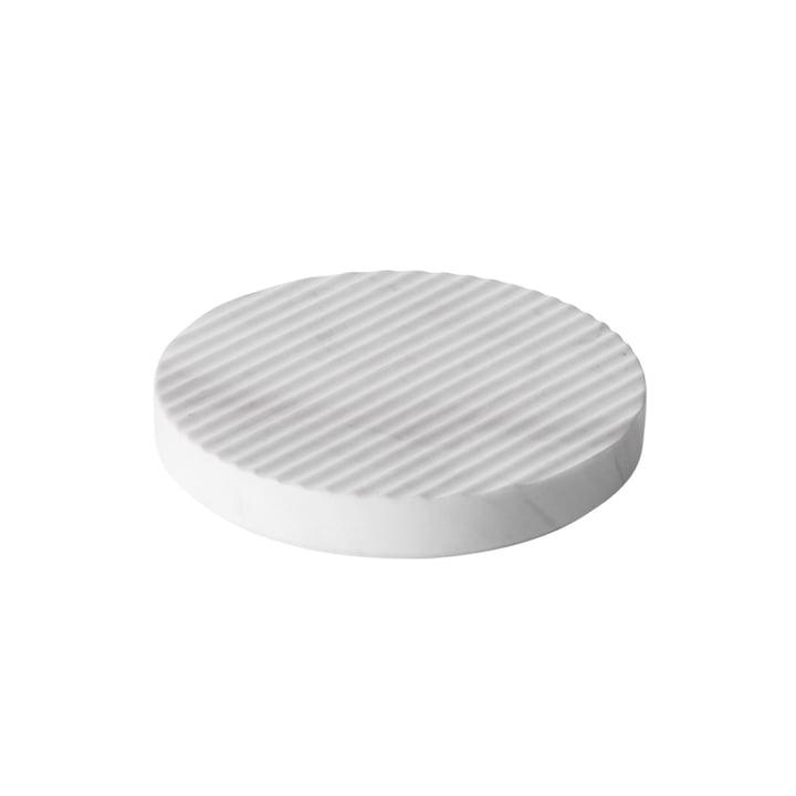 Muuto - Groove Marble-Trivet Ø 16, white