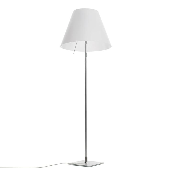 Grande Costanza standard lamp D13 G.t. by Luceplan made of aluminium in white
