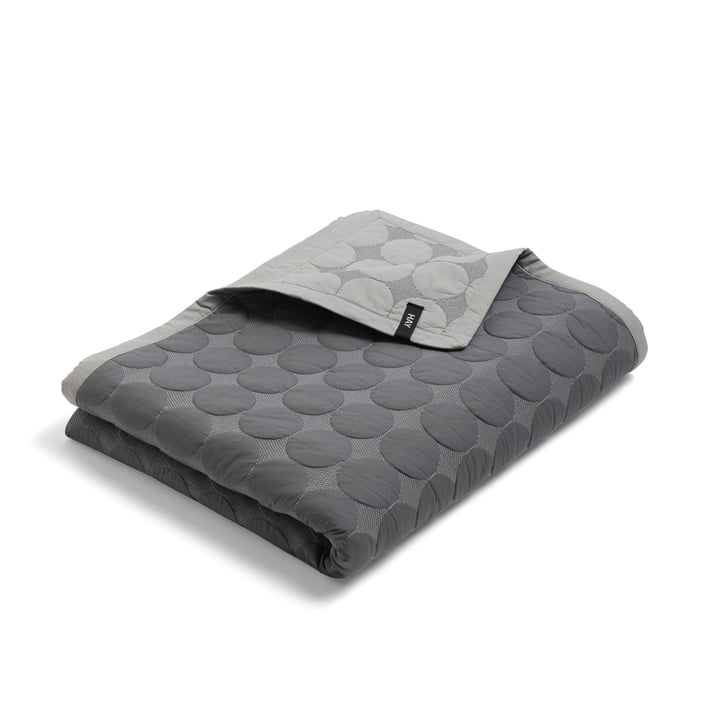 Mega Dot Bedspread by Hay in dark grey