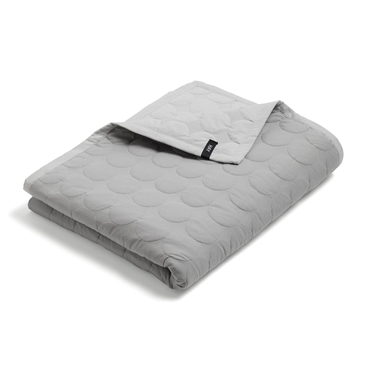 Mega Dot Bedspread from Hay in light grey