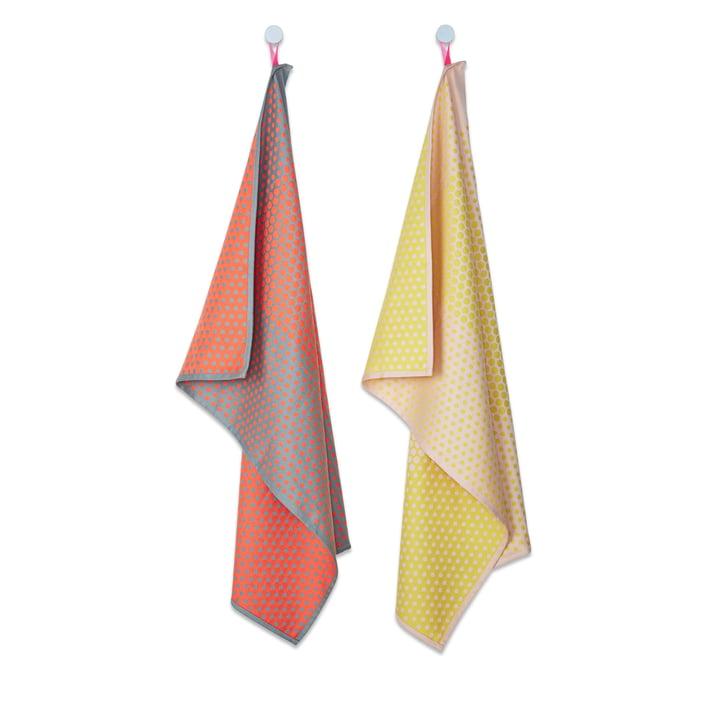 Hay - S&B Tea Towels, Set of 2, Layer Dots