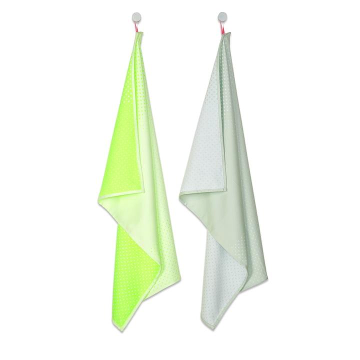 Hay - S&B Tea Towels, Set of 2, Block Dots