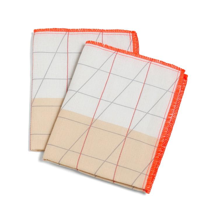 Hay - S&B Colour Cloth Tea Towel, Set of 2, orange
