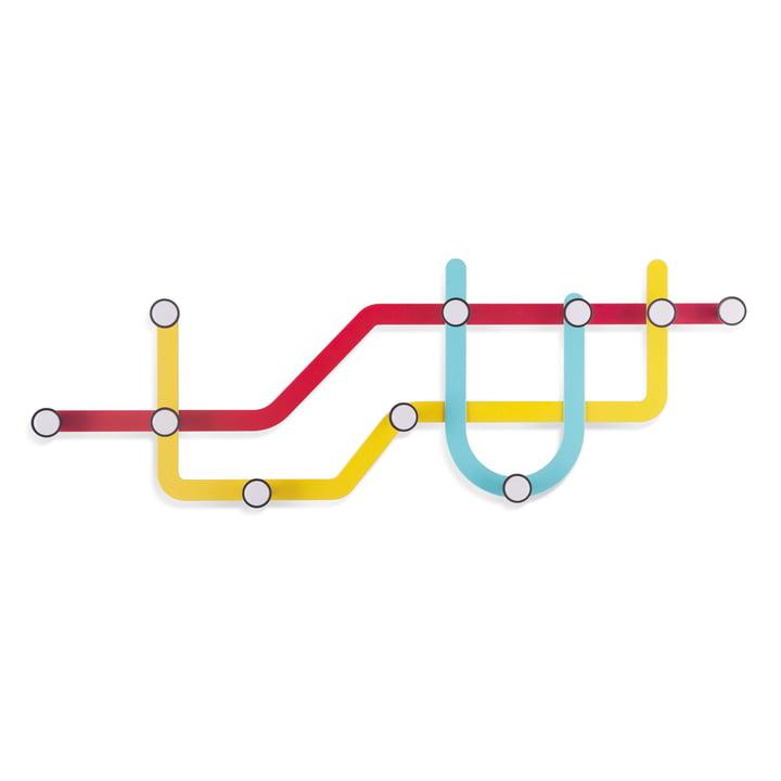 Umbra - Subway wall coat rack, multicoloured