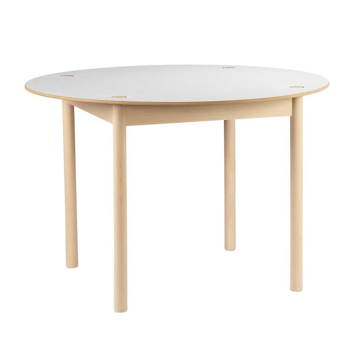 Hay - C44 Tisch, Ø 110 cm, beech soaped, white