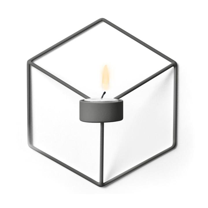 Menu - POV Wall Tea Light Holder, warm grey