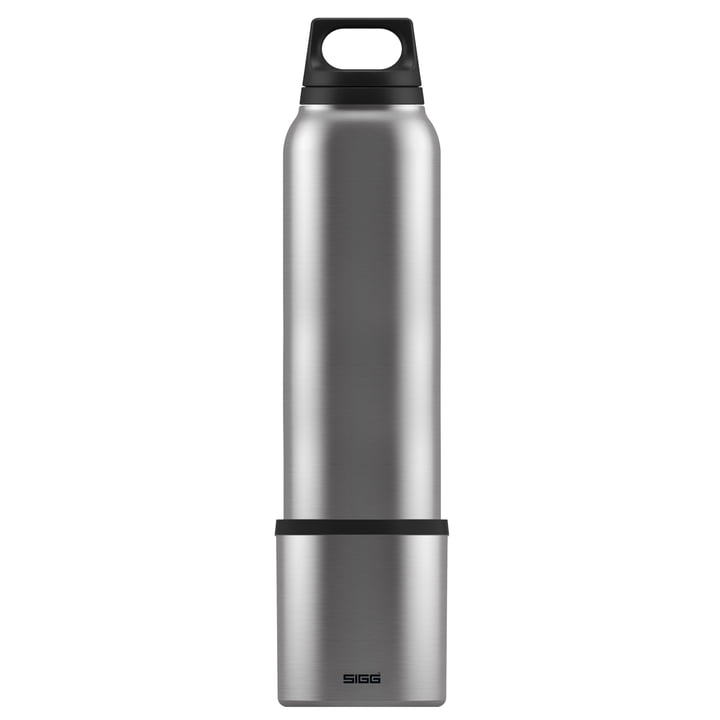 Hot & Cold Thermos flask 1 l incl. cup from Sigg in Brushed