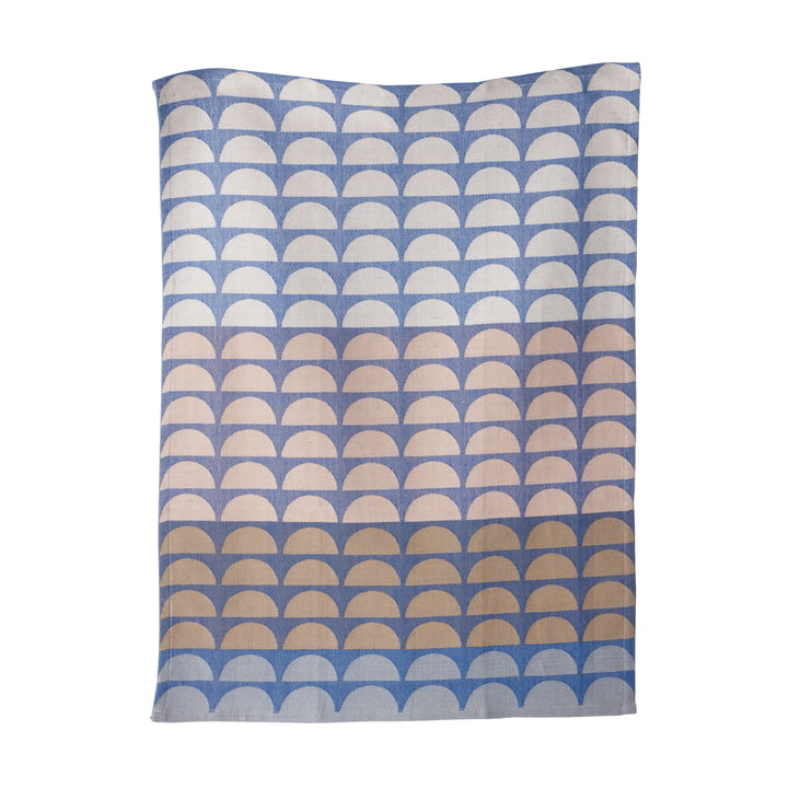ferm living - Bridges tea towel, blue, 50 x 70 cm
