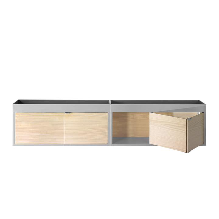 Hay - New Order Horizontal Cabinet, light grey, ash