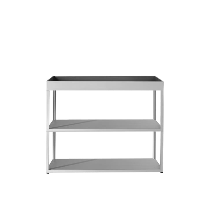 Hay - New Order Sideboard, open with tray, light grey