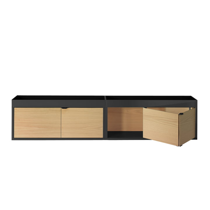 new order wall mounted shelf by hay in the design shop. Black Bedroom Furniture Sets. Home Design Ideas