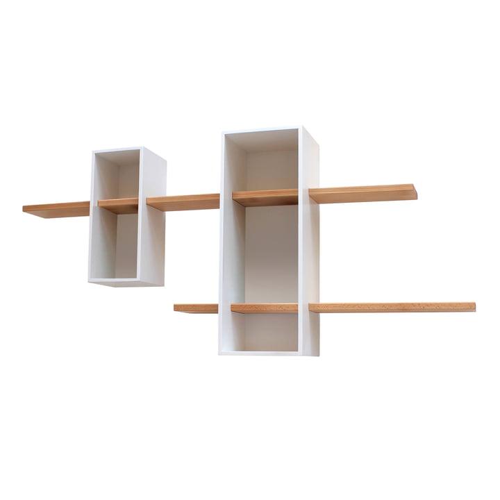 Edition Compagnie - Max shelf, EM02, white / beech