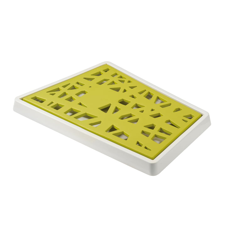 Koziol - Matrix Bread Cutting Board, mustard green with white