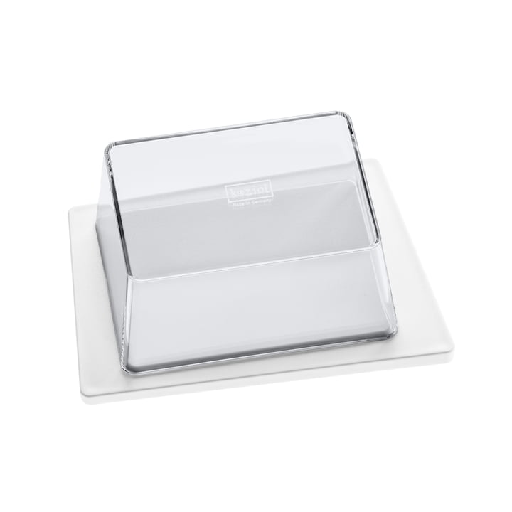 Koziol - Kant Butter Dish, white / transparent