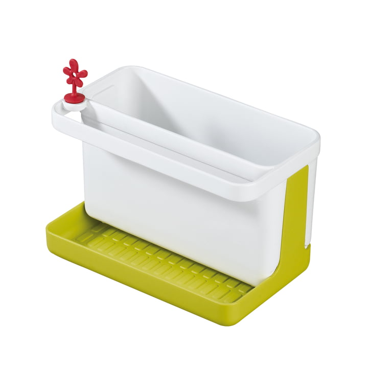 Koziol - Park It Sinkside Organizer, mustard green with white