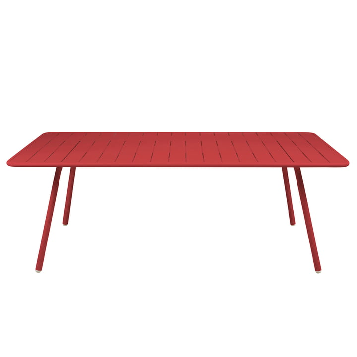 Luxembourg Table 100 x 207 by Fermob in poppy red