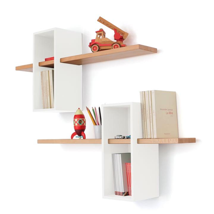 Edition Compagnie - Max shelf EM 01 XL, white / beech