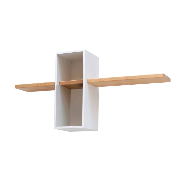 Edition Compagnie - Max shelf EM 01, white / beech