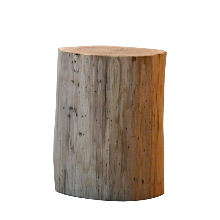 Jan Kurtz - Block Stool, round H38cm, oak