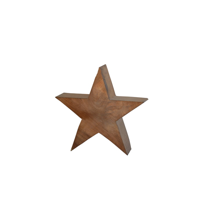 Jan Kurtz - Wooden Star S, massive teak wood