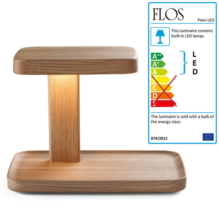 Flos - Piani Big table lamp, wood