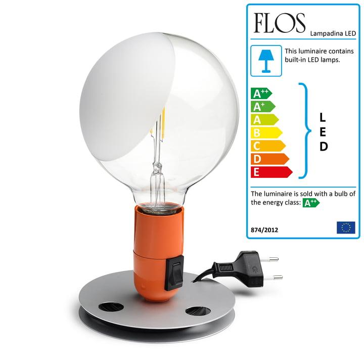 Flos - Lampadina LED, orange