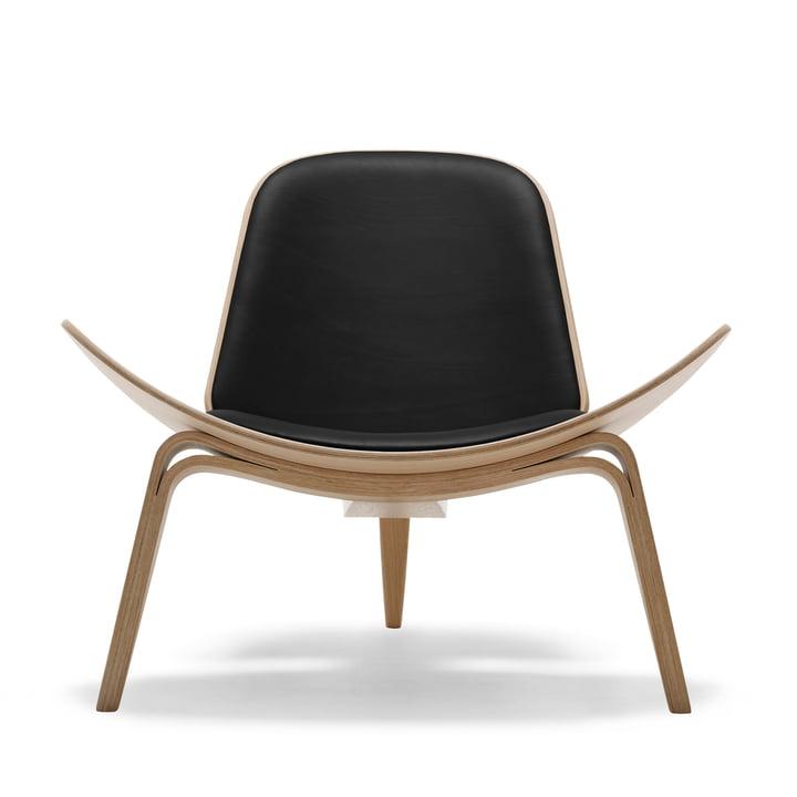 Carl Hansen - CH07 Shell Chair, oak oiled / black (Loke 7150)