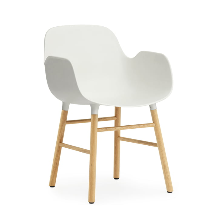 Normann Copenhagen - Form Armchair, white / oak
