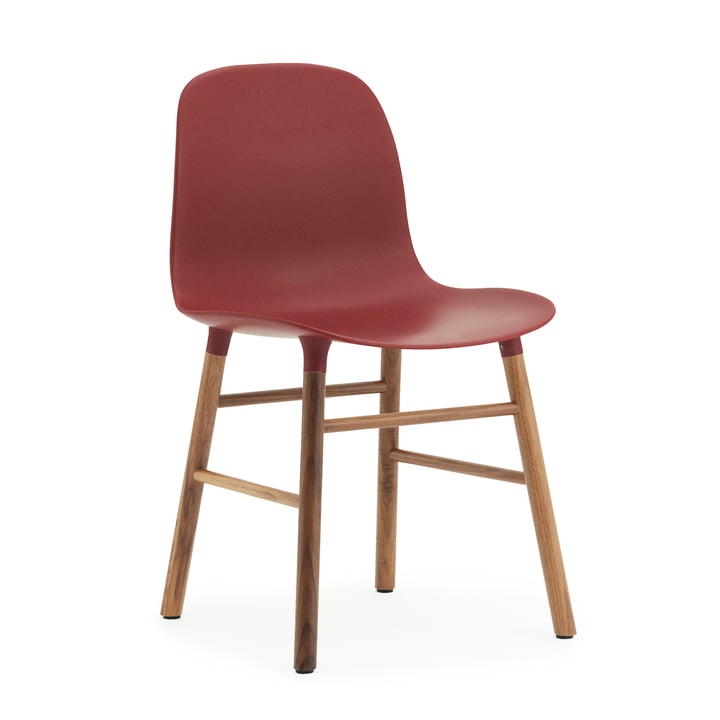 Normann Copenhagen - Form Chair, red / walnut
