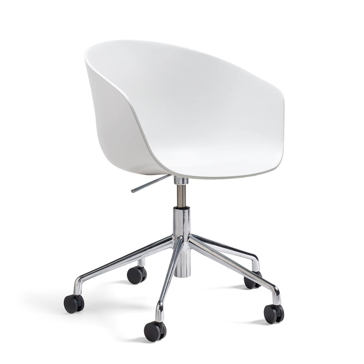Hay - About A Chair AAC 52  with gaslift, polished / white