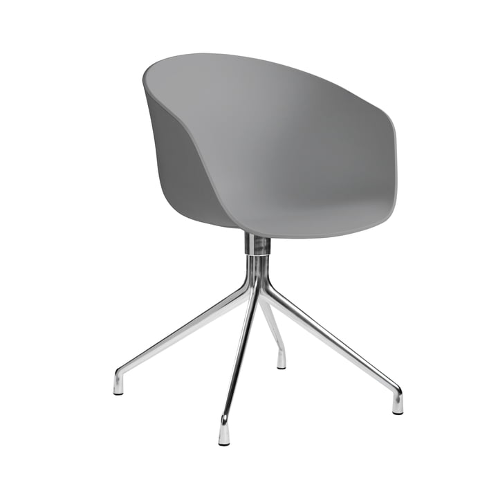 About A Chair AAC 20 by Hay in polished aluminum / gray