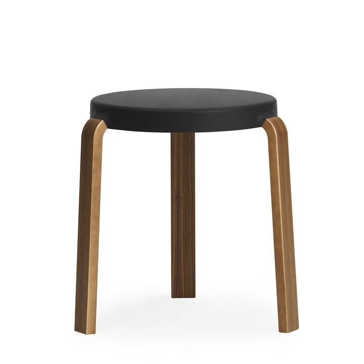 Tap stool by Normann Copenhagen in walnut / black
