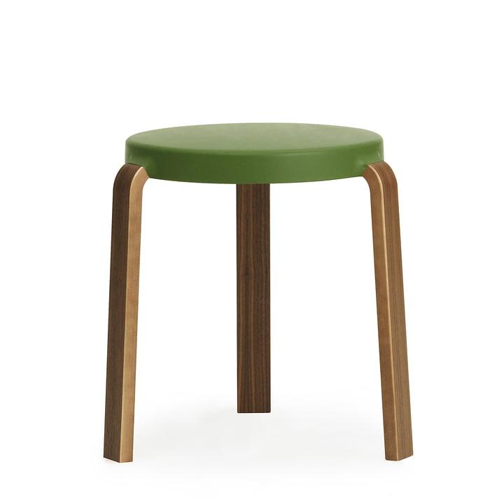 Tap stool by Normann Copenhagen in walnut / olive green