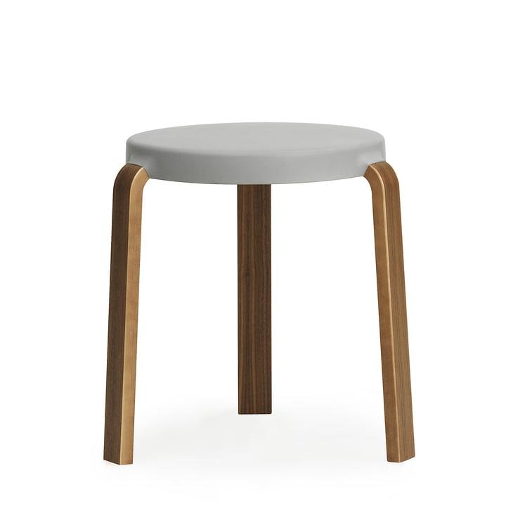 Normann Copenhagen - Tap Stool, walnut / grey