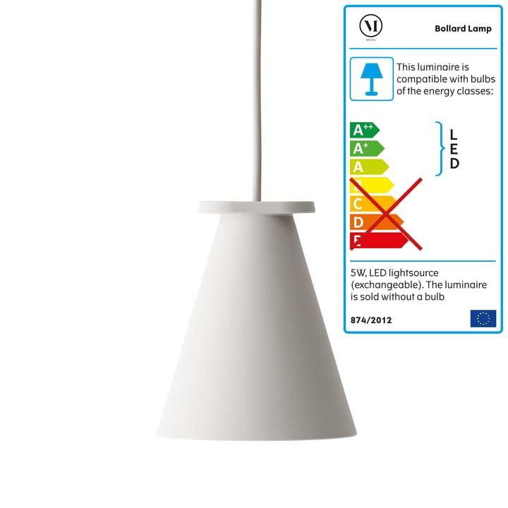 Menu - Bollard Lamp, ash