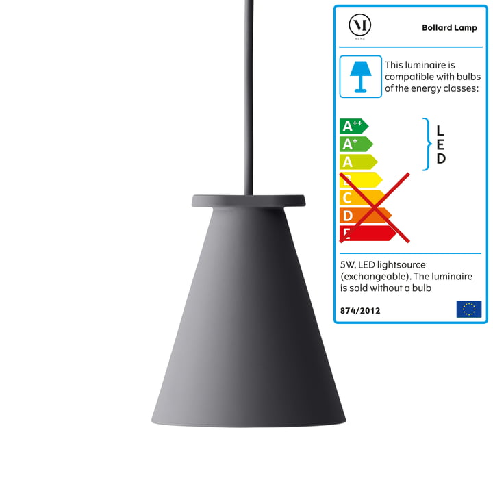 Menu - Bollard Lamp, carbon