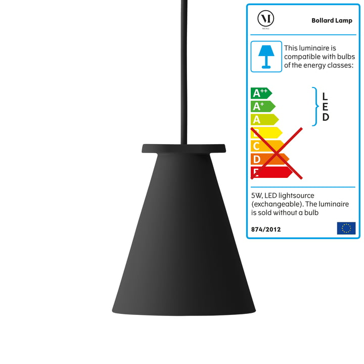 Menu - Bollard Lamp, black