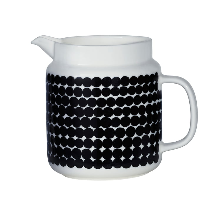 Marimekko - Oiva Siirtolapuutarha Pitcher, white / black