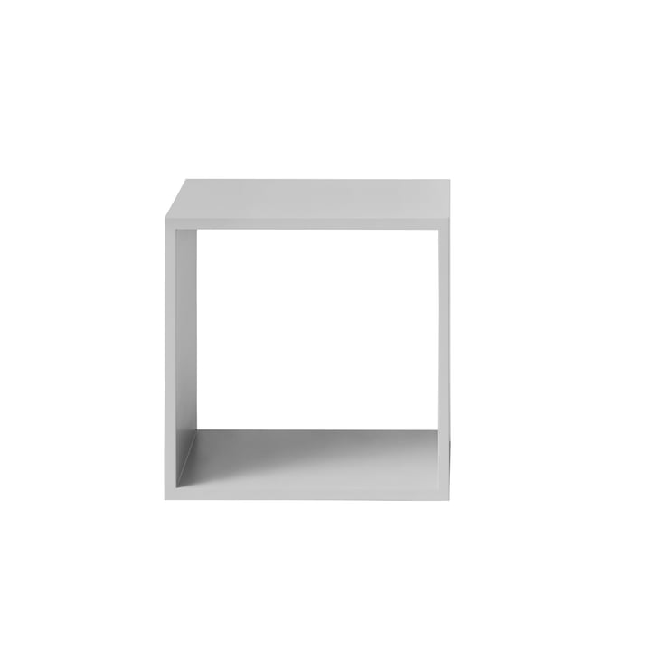 Muuto - Stacked Shelving System without backboard, medium, light grey