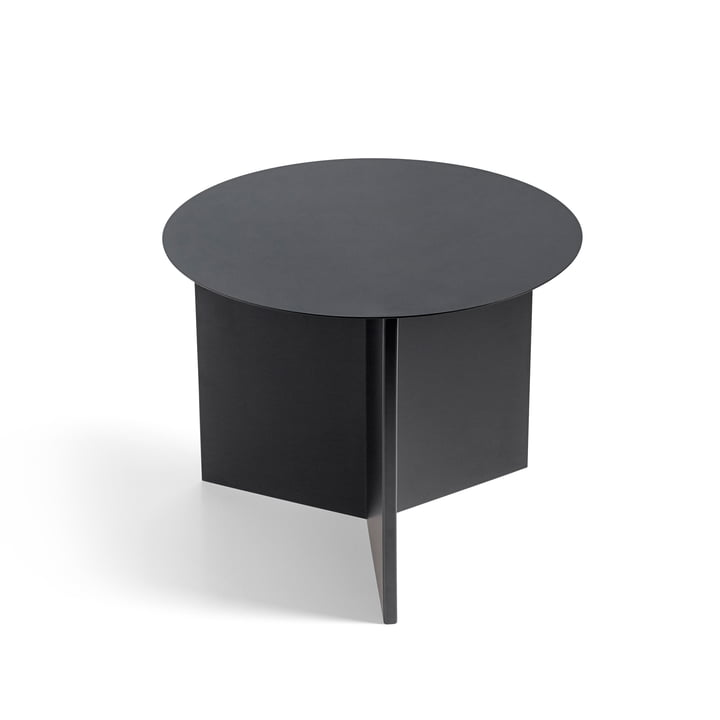 Hay - Slit Table Round, black