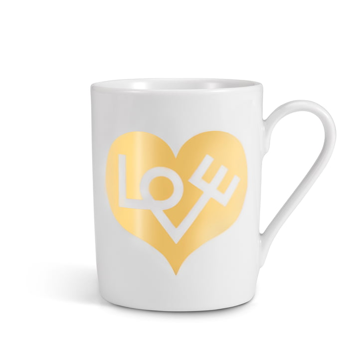 Vitra - Coffee Mug, Love Heart gold
